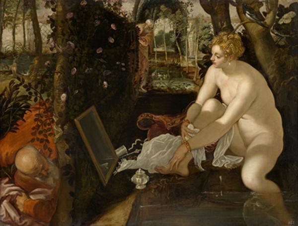 Suzanne et les vieillards, 1555-1556, Le Tintoret, musée d'Histoire de l'art, Vienne.