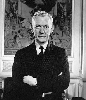 Maurice Couve de Murville à l'hôtel Matignon en 1969