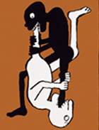 Affiche Black Power/White Power 1967, Tomi Ungerer, Strasbourg, musée Tomi Ungerer.