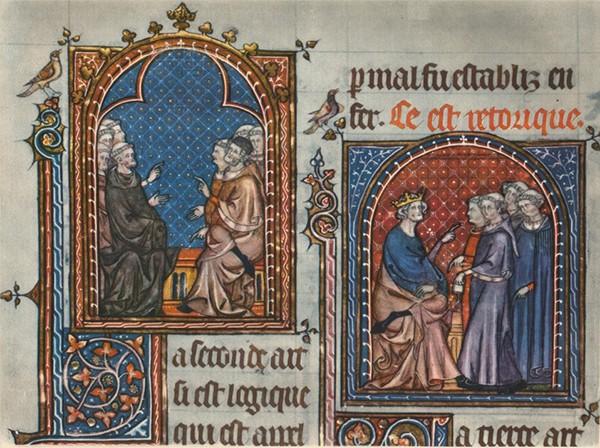 La Logique - La Réthorique., manuscrit du XVe s., Paris, BnF.