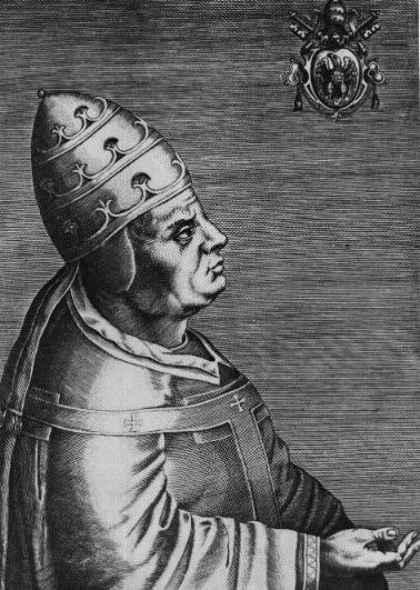 Le pape Urbain VI, 202ème pape de l'Eglise catholique romaine.