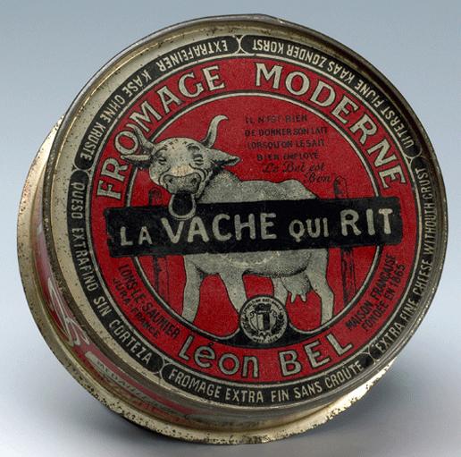 « La vache qui rit » commercialisée en boîte de conserve, DR.