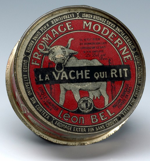 Les trois premières années, « La vache qui rit » est commercialisée en boîte de conserve. DR