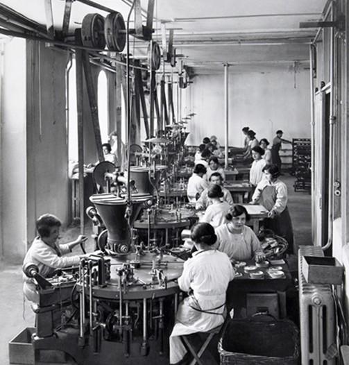 Dans les années 20, l'entreprise bel est à la pointe de la modernité. DR