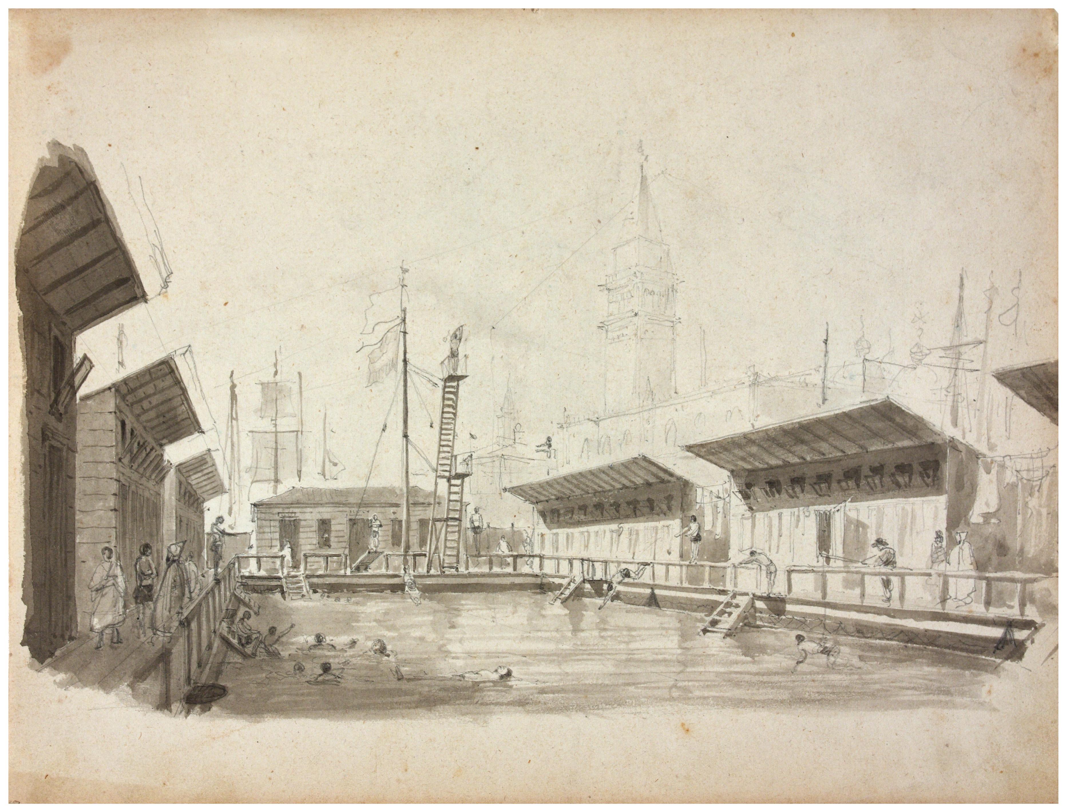 Giovanni Pividor, Interno dello stabilimento bagni di Tommaso Rima, 2e moitié du XIXe siècle. Archivio fotografico, Fondazione Musei Civici di Venezia.