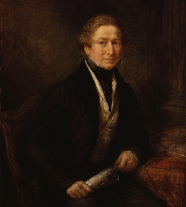 Sir Robert Peel par John Linnell, Londres, National Portrait Gallery. L'agrandissement montre Arthur Wellesley, premier duc de Wellington en compagnie de Sir Robert Peel (à droite), 1844, Franz Xavier Winterhalter, Collection royale britannique.