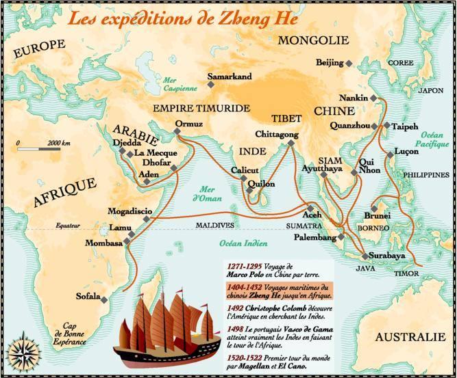 Les expéditions de Zheng He (DR)