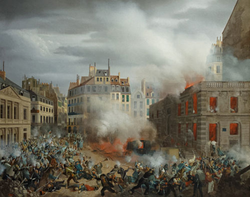 Incendie du château d'eau, place du Palais-Royal, le 24 février 1848, Eugène Hagnauer, Paris, musée Carnavalet.