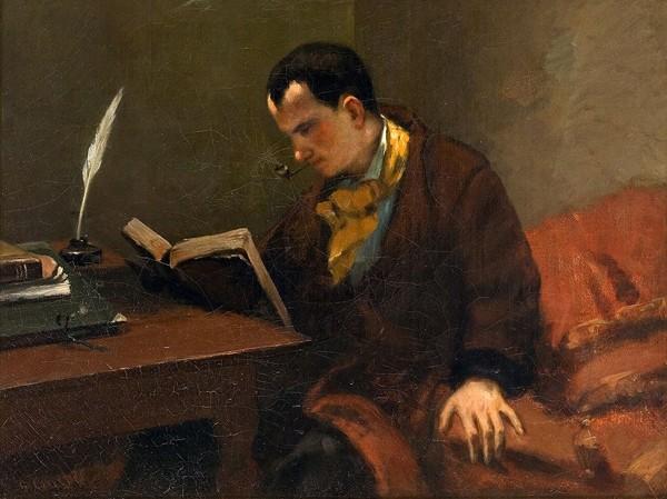 Portait de Baudelaire, vers 1848, Gustave Courbet, musée Fabre, Montpellier.
