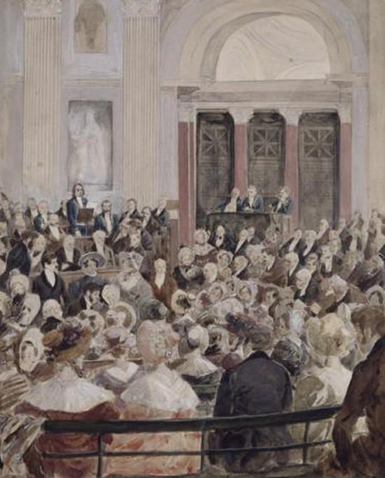 Réception de Victor Hugo à l'Académie Française en 1841, Hermann Vogel, maison De Victor Hugo, Hauteville House, Guernesey.