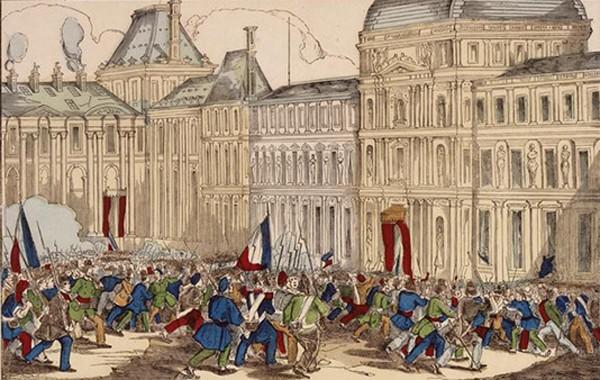 Prise des Tuileries par le peuple parisien le 24 février 1848, Jean-Gilles Berizzi, musée des civilisations de l'Europe et de la Méditerranée (MUCEM), Marseille.