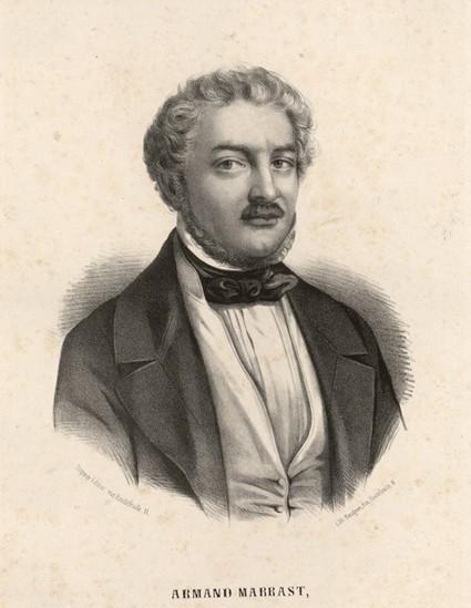 Armand Marrast, rédacteur en chef du « National » puis président de l'Assemblée nationale, estampe, 1849, BnF, Paris.