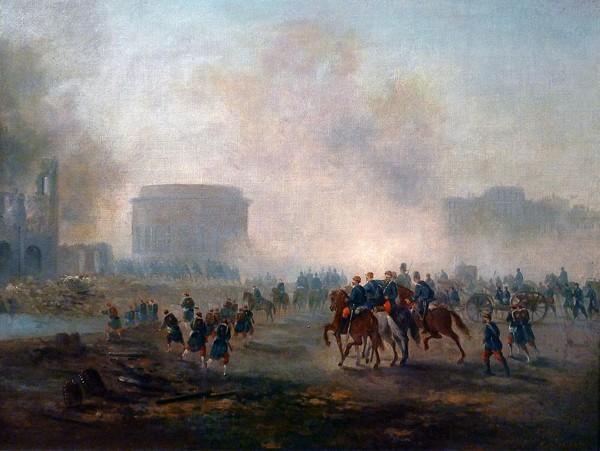 La Villette cernée par les troupes versaillaises, mai 1871, Gustave Boulanger, Paris, musée Carnavalet.