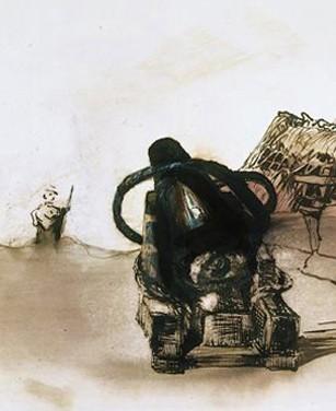 Souvenir du siège de Paris, dessin de Victor Hugo, archives Larbor, DR.