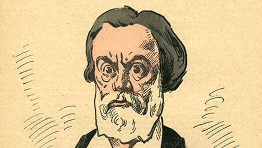 Caricature de Jules Vallès par André Gill, Les Hommes d'aujourd'hui, n°119, 1878.
