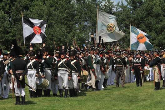 Lituanie 1812, reconstitution historique (photo : Brice Charton, Herodote.net)