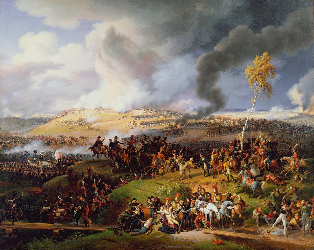 La bataille de la Moskowa (ou de Borodino), le 7 septembre 1812, par Lejeune
