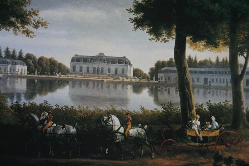 Une représentation du chateau allemand de Benrath dans le salon Murat (palais de l'Élysée)