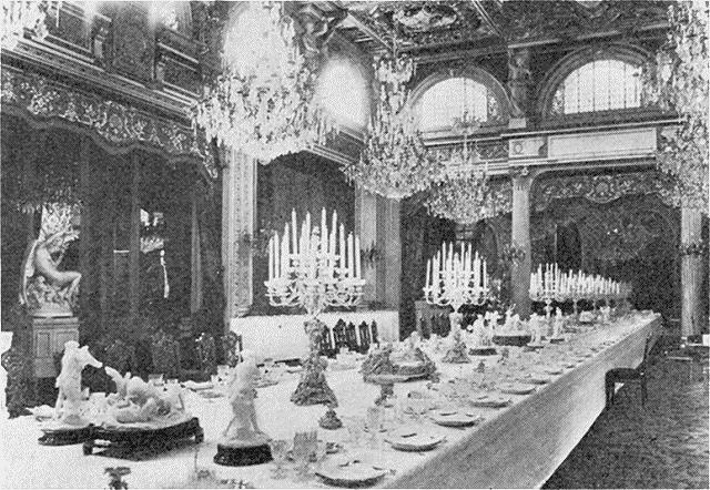 La salle à manger de l'Élysée au temps du président Émile Loubet