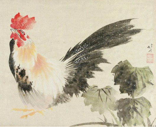Hokusai, Coq, vers 1808-1809, Victoria and Albert Museum, Londres