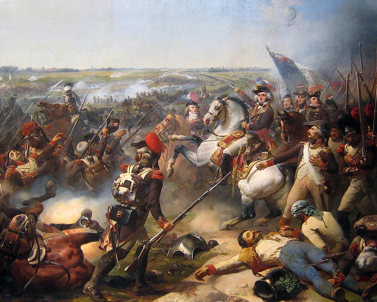 Jourdan à la bataille de Fleurus, 26 juin 1794, par Mauzaisse