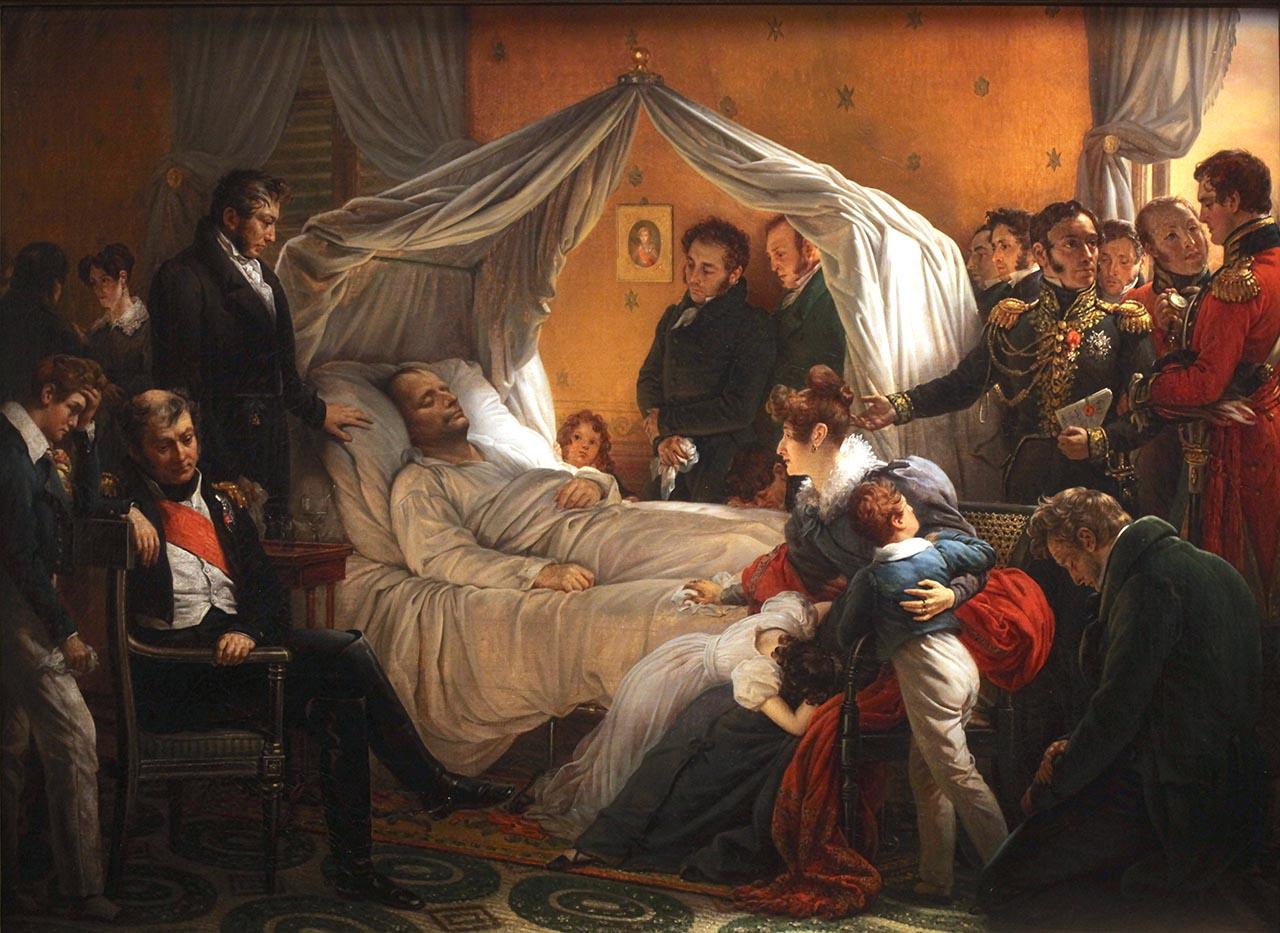 La mort de Napoléon, par Charles de Steuben