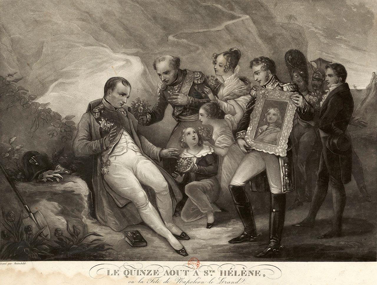 Le quinze août à Sainte-Hélène, gravé par Roemhild