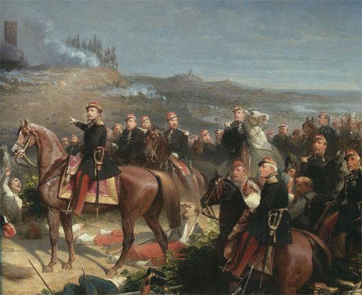 Napoléon III à la bataille de Solferino (Adolphe Yvon, vers 1860)