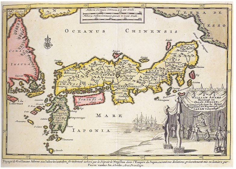 Une carte du Japon tracée par William Adams vers 1600
