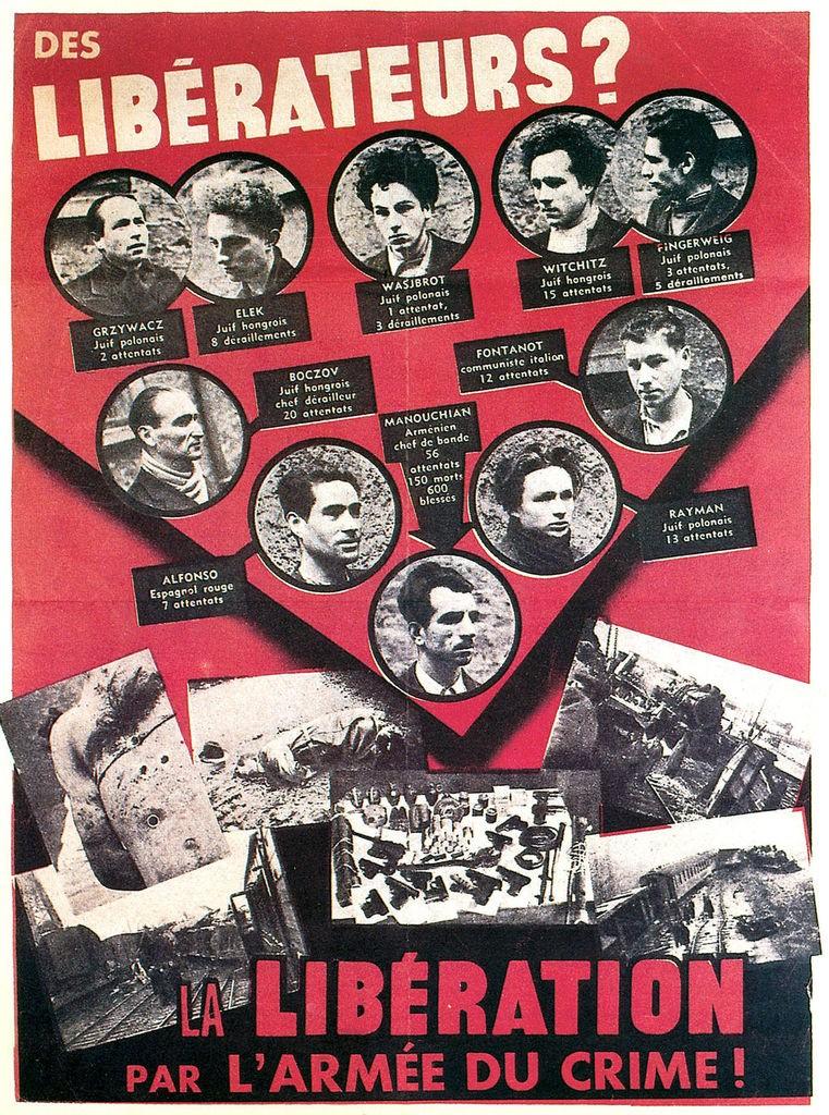 L'Affiche rouge du groupe Manouchian
