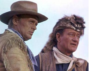 Richard Widmark et John Wayne (Alamo, 1960)