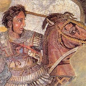 Alexandre et Darius III à Issos (mosaïque, maison du Faune à  Pompéi, Musée archéologique national, Naples)