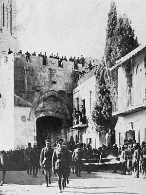 Entrée du général Allenby à Jérusalem le 11 décembre 1917