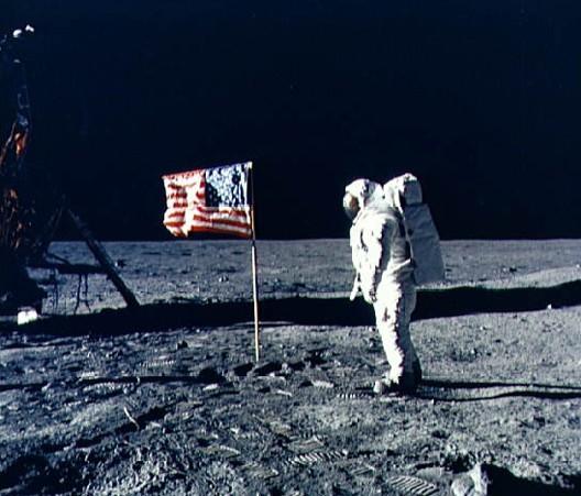 Buzz Aldrin photographié par Neil Armstrong, Apollo XI (DR)