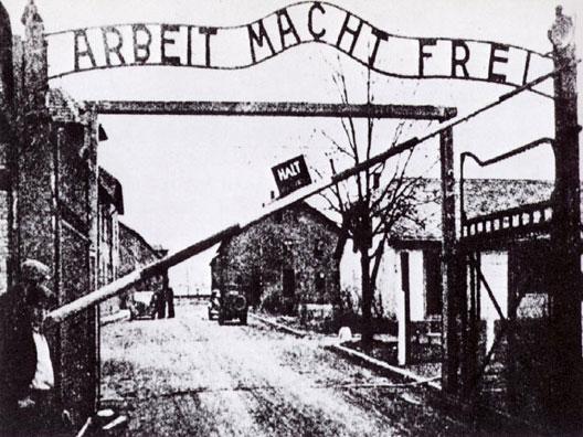 Entrée du camp d'Auschwitz