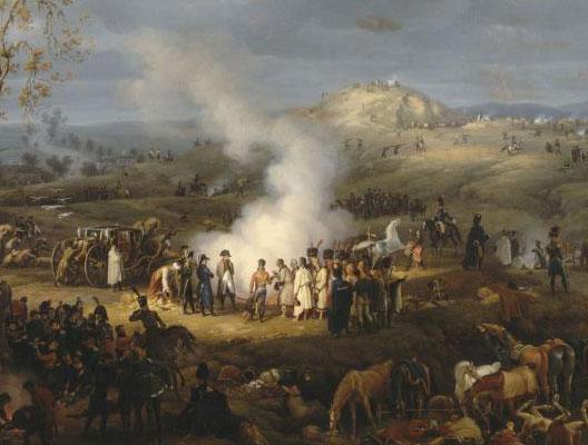 Bivouac de Napoléon à la veille d'Austerlitz, 1808, Baron Louis-François Lejeune (1775-1848), musée de Versailles
