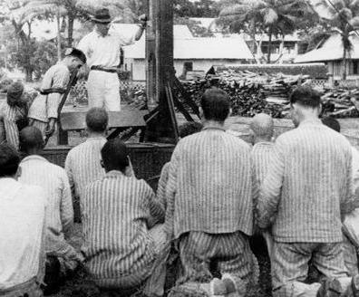 Exécution capitale au bagne de Cayenne, vers 1925