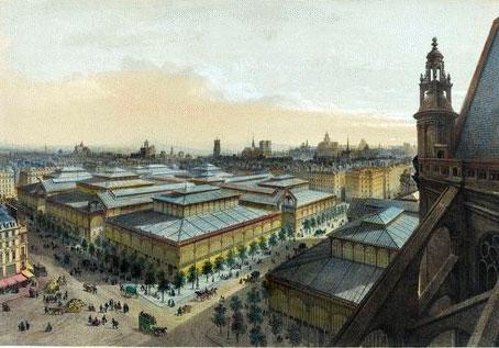 Les halles Baltard, Paris (estampe, musée d'Orsay)
