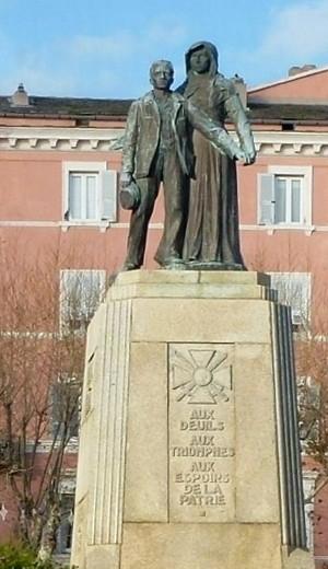 Le monument aux morts de Bastia (DR)