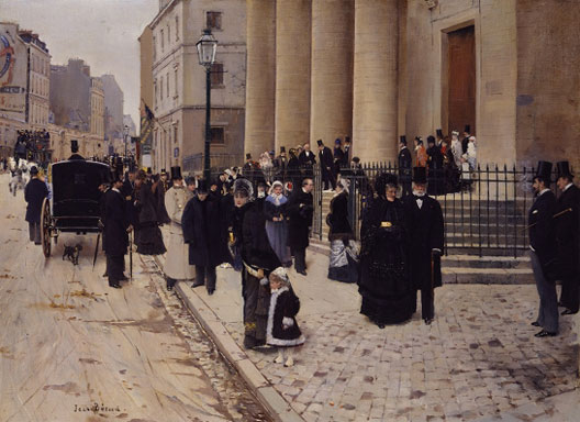 Jean Béraud, Dimanche à l'église Saint-Philippe-du-Roule, Paris, 1877, The Metropolitan Museum of Art, New York.