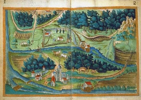 Cartulaire de la seigneurie du couvent de Billette, près de Paris, vers 1520-1530 (BNF)