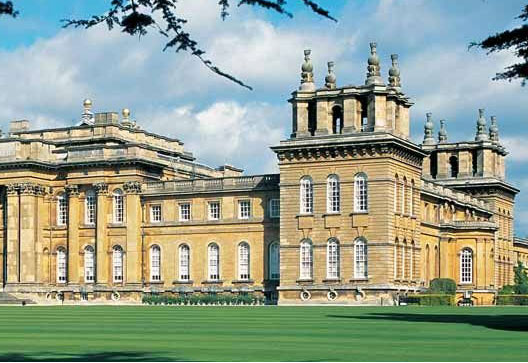 Blenheim Castle, inherited from the Duke of Marlborough and Winston Churchill's birthplace