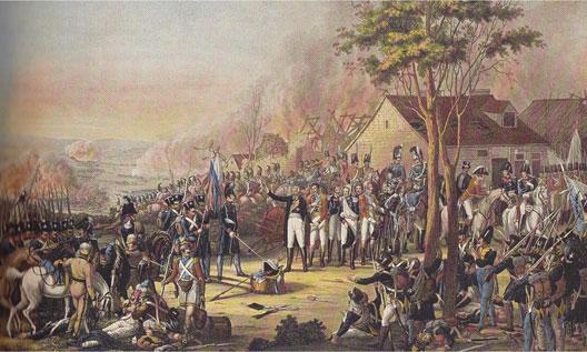 La rencontre de Blücher et Wellington au soir de Waterloo (Rugendas, musée de l'Armée, Paris)