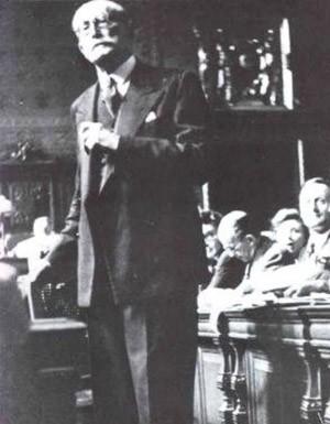 Léon Blum au procès de Riom (1942)