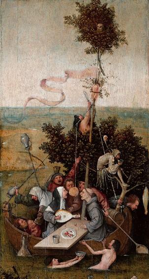 Jérôme Bosch, La Nef des fous, vers 1500, Paris, musée du Louvre
