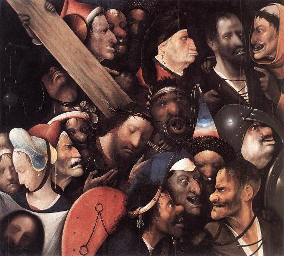 Jérôme Bosch, Le Portement de croix, vers 1500, Gand, musée des Beaux-Arts.