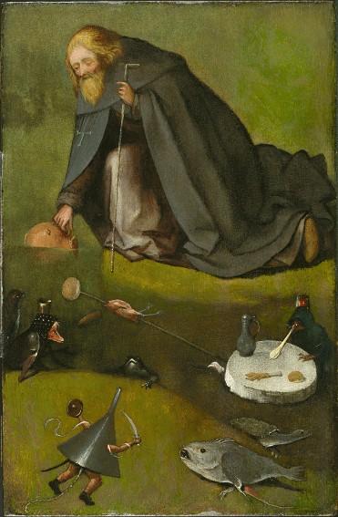 Jérôme Bosch, La Tentation de saint Antoine, vers 1500, Nelson-Atkins Museum of Art, Kansas city