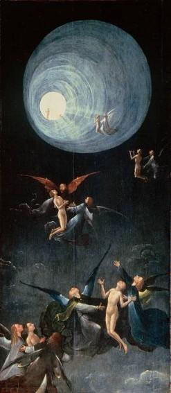 Jérôme Bosch, Visions de l'au-delà : la montée vers l'empyrée, vers 1500, Venise, Palazzo Grimani.
