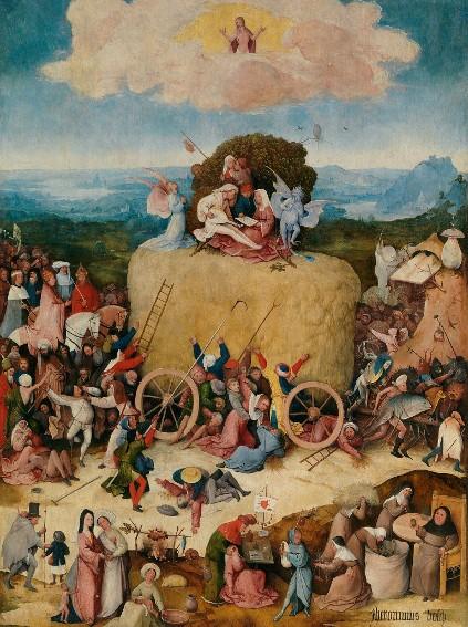 Jérôme Bosch, Le Chariot de foin, 1501, Madrid, musée du Prado.