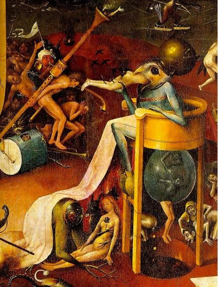 Jérôme Bosch, détails du Jardin des délices, 1503, Madrid, musée du Prado.